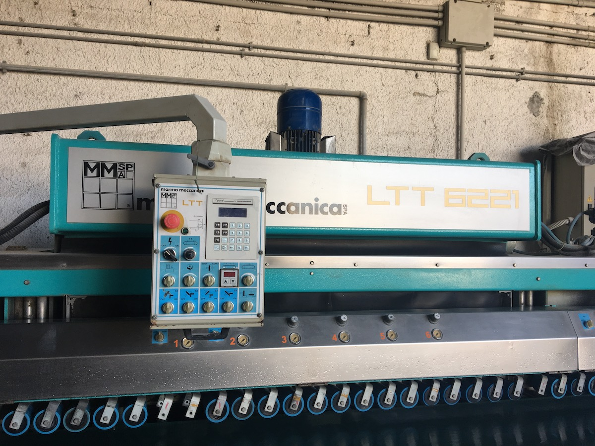 Used bullnose edge polisher - Marmo Meccanica LTT 6221 - Frontal view
