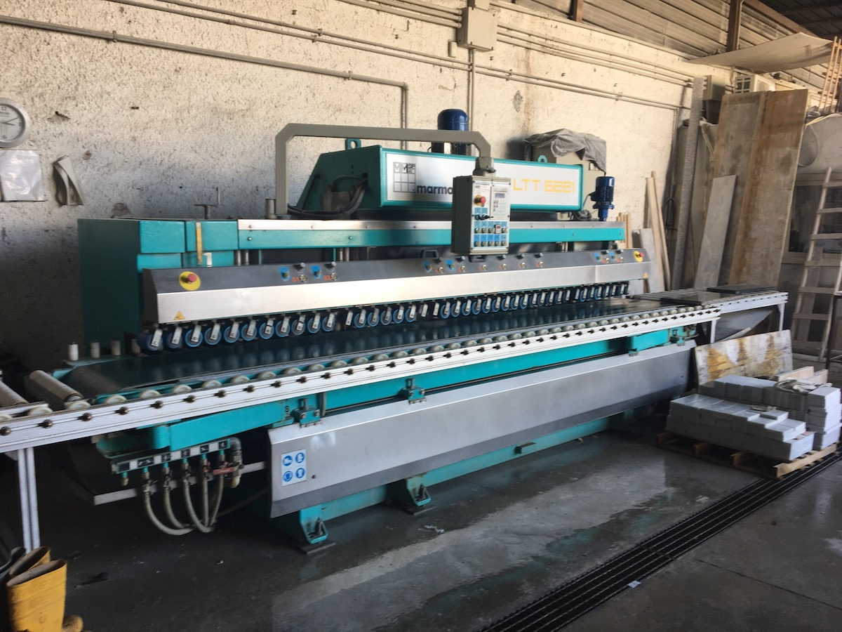 Used bullnose edge polisher - Marmo Meccanica LTT 6221 - Side view