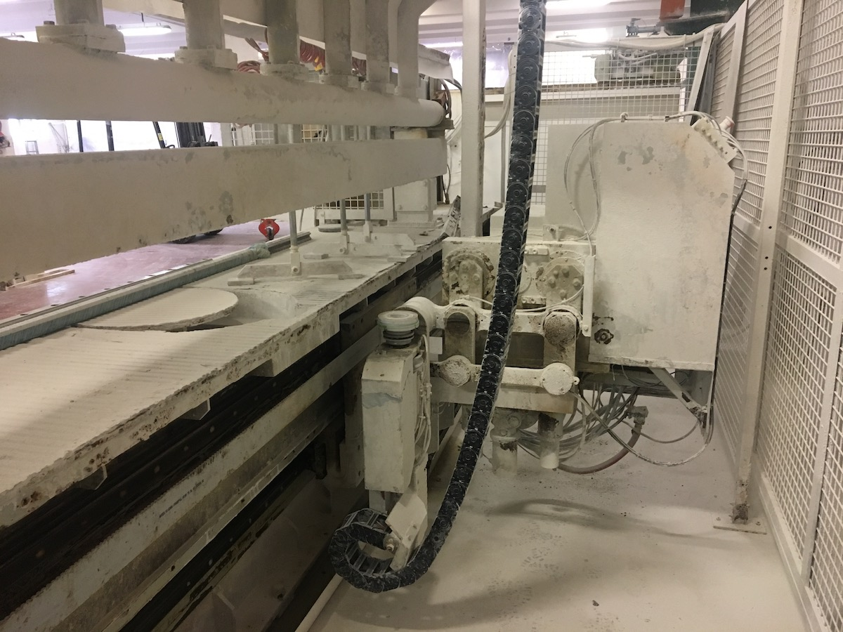 Used edge polisher with bench - Comandulli Speedy System - Head rotation