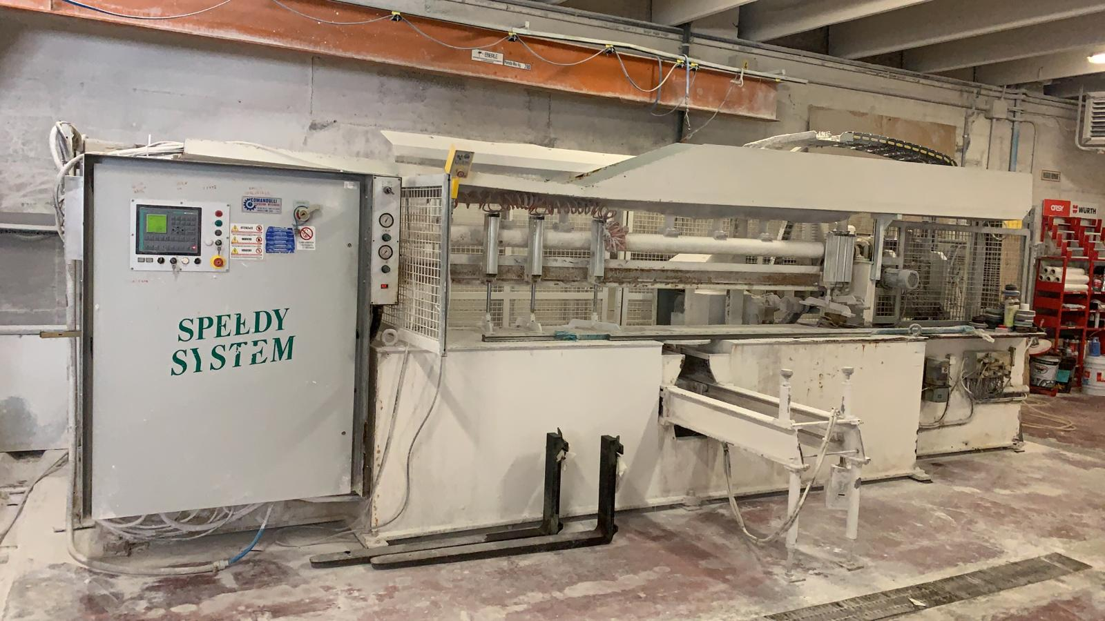 Used edge polisher with bench - Comandulli Speedy System - Frontal View