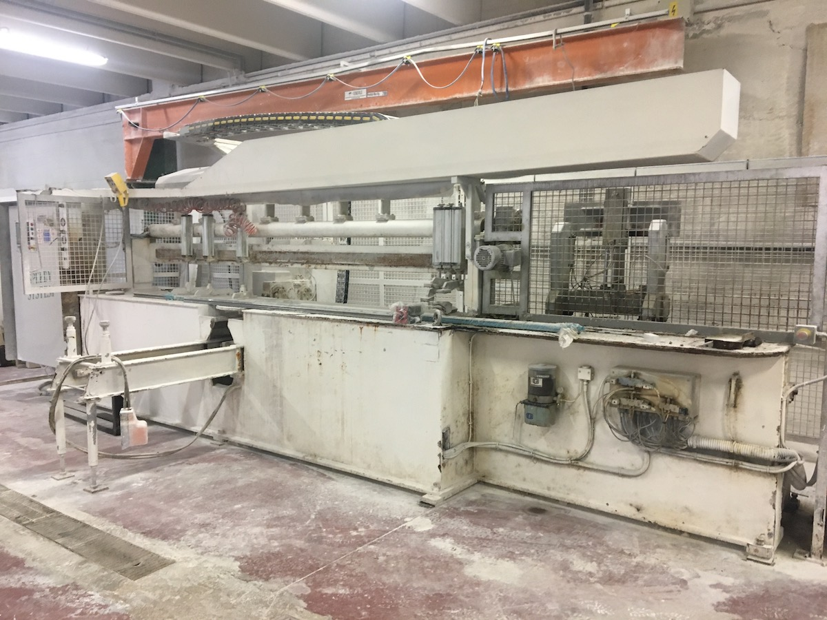 Used edge polisher with bench - Comandulli Speedy System - Side view